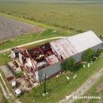 damaged barn aerial footage