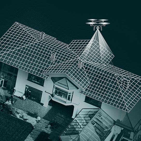 graphic of roof scan