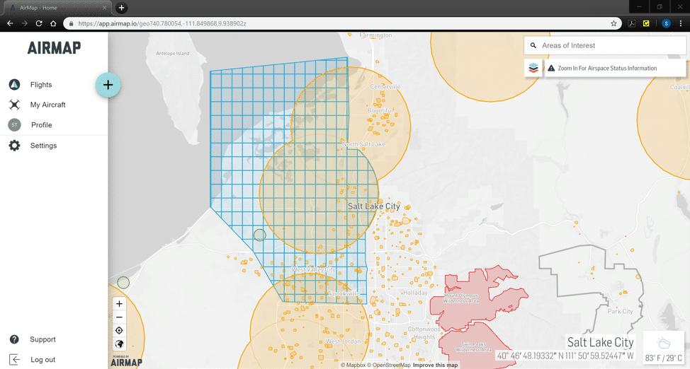 airspace data airmap